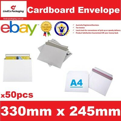 50PCS 330X245mm A4 document Semi Rigid Cardboard Envelope hard mailer