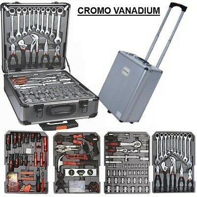 Free* Trolley Alluminio 187 Utensili Chrome Vanadium Chiavi Cricchetto Bussole