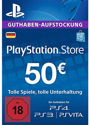 DE €50 PLAYSTATION NETWORK Prepaid Card 50 EUR PSN Karte Key PS3 PS4 PSP Code