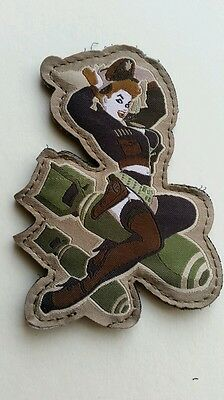 MSM DEATH FROM ABOVE PINUP GIRL PATCH, morale, tactical, military, airsoft