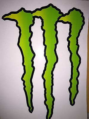 "Large HUGE Monster Energy Drink Decal Sticker 11.75"" x 8.5"" ATV/Truck/Buggy"