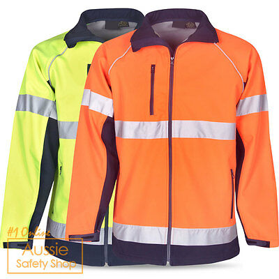 Hi Vis Unisex Safety Day Stylish Waterproof Windproof Builder Soft Shell Jacket