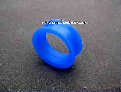 ONE 26mm Blue DOUBLE Flared Silicone TUNNEL - Tunnels & Plugs