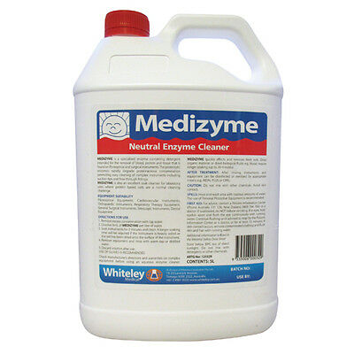 Whiteley Medizyme Neutral Enzyme Cleaner 5L Dental Medical Tattoo Veterinary