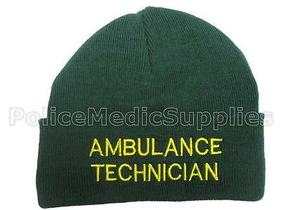 Ambulance Technician Green Woolly Hat Paramedic St Johns Medic  First Responder