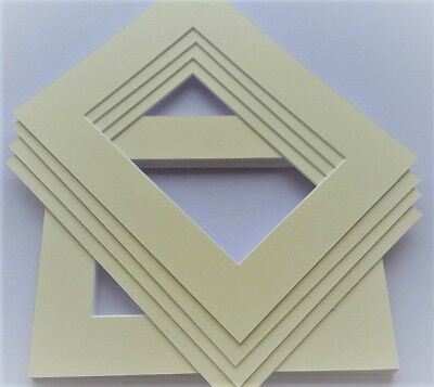 CREAM PICTURE & PHOTO FRAME MOUNTS. Ideal sizes & pack quantity