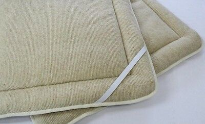 Perugiano 100% Wool Medical Mattress Topper Natural