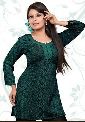 Indian Designer Crepe blouse tops kurta Kurtis-Tunics for Women