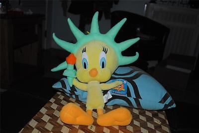 "Tweety Bird Statue of Liberty Plush Doll 17"" Looney Tunes w Tag Rare Cute"