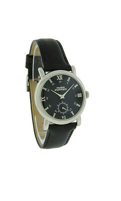 Hush Puppies HP.3631M.2502 Women's Black Round Roman Numeral Leather Watch