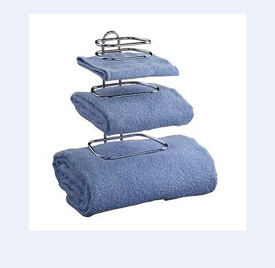 Taymor 01-1062 GUEST TOWEL HOLDER holds 2 sets of towels magazine rack storage
