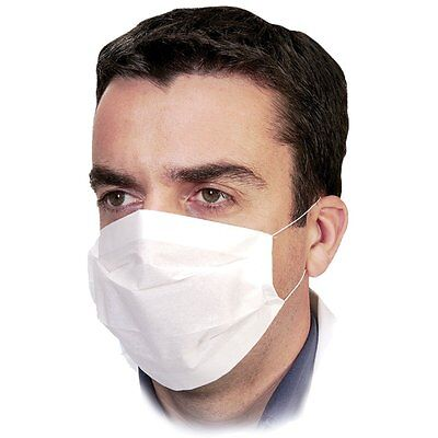 100 x Disposable Professional 2-Ply Paper Earloop Face Masks (CE Certified)