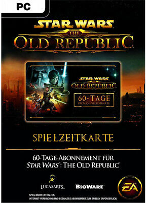 STAR WARS: THE OLD REPUBLIC SWTOR PREPAID TIME 60 TAGE GAMECARD Key Code SWTOR