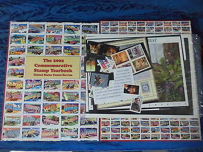 (3) United States Postal Service 2002 Commemorative Stamp Yearbook -