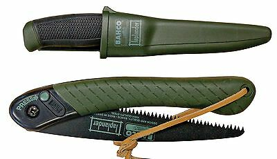 Bahco LapLander Folding Saw & Multi-Purpose Stainless Knife Set (Made in Sweden)