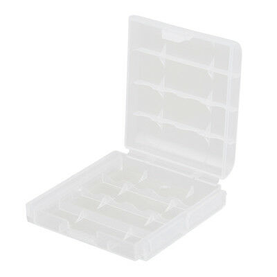 5 Clear Plastic Battery Box Storage Case Cover Holder For AA AAA Batteries New