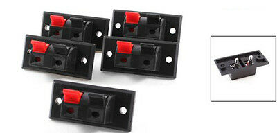 5 Pcs 2 Positions Push in Jack Spring Load Audio Speaker Terminals New