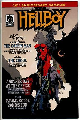 Hellboy 20Th Anniversary Sampler One-Shot #1 Signed By Mike Mignola Dark Horse