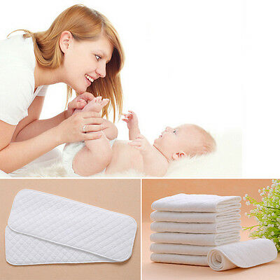 10pcs Baby Cloth Diaper Liners Bamboo Eco Cotton Disposable Diapers Nappy Insert