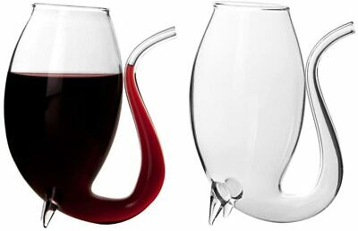 2x Port Sippers Glasses Set Hand Blown Sipping Liqueur Glass Drinking Gift Set