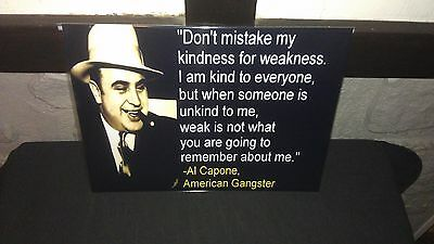 """Mobsters Gangster Al Capone  Glossy Wall Poster 8.5""""x11""""  Decor #2"""
