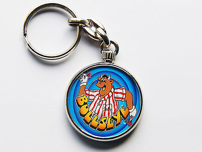 BULLSEYE Classic TV Show Quality Chrome Keyring Picture Both Sides!