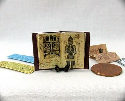 JONES DIARY Miniature Book Dollhouse 1:12 Scale Illustrated INDIANA JONES