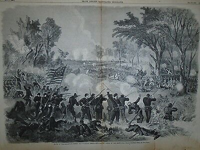 1863 Leslie's Weekly Centerfold-Hooker repulses the attack at Chancellorsville