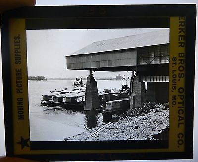 Mead Johnson Terminal EVANSVILLE IN Indiana Antique Magic Lantern Slide
