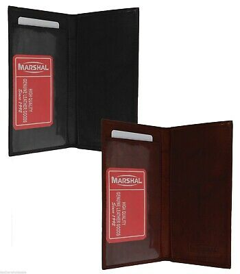 Checkbook Cover Plain Set Of 2 Black Burgundy Genuine Leather Great Gift Idea 1