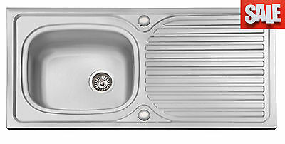 Stainless Steel Kitchen Sinks, Drainer & Waste, Range of Taps Single & 1.5 Bowl