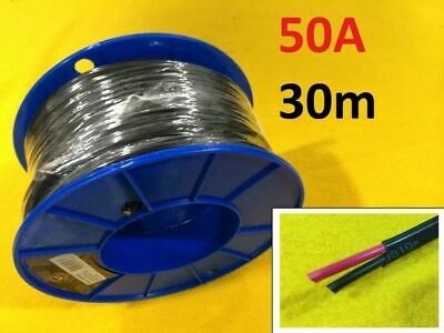 30 M x 50 Amp AUTO WIRE 6 mm TWIN CORE dual sheath GP car electrical cable