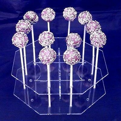 Octagon Cake Pop Stand - Clear