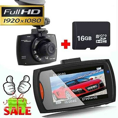 """1080P 2.7"""" HD LCD Night Vision CCTV In Car DVR Accident Camera Video Recorder UK"""