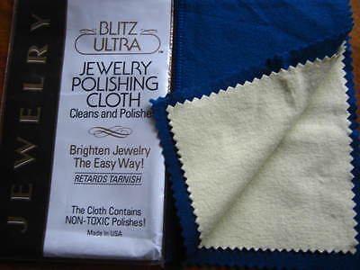 Jewellery Polish Double Cleaning Cloth Gold Silver Platinum Non Toxic 25 x 20 cm