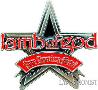 Lamb Of God - NEW HIGH QUALITY Star Metal Belt Buckle