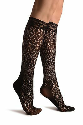 230b4ff9a WOMENS GIRLS OVER The Knee Long Socks Lace Knit Warm Soft Thigh High ...