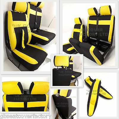 Vw Transporter T4  Van  Seat Cover Yellow  Sports Trim Made To Measure X52Y