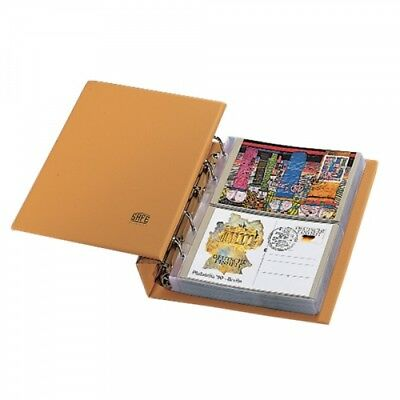 Postcard Album-Compact Tan Luxus Modern w/20 Pages