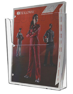 """Clear Acrylic Wall-Mount Brochure Holder for 8.5""""w Literature"""