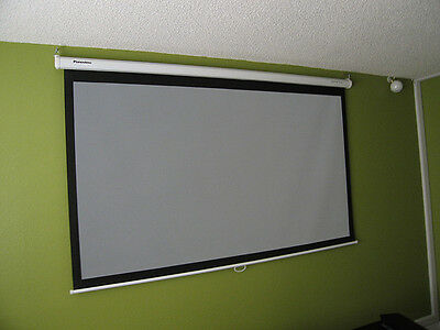 """92"""" Panoview Graywolf Home Theater Projector Screen"""