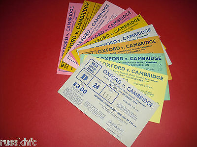 1970s OXFORD V CAMBRIDGE RUGBY TICKETS - CHOOSE FROM LIST