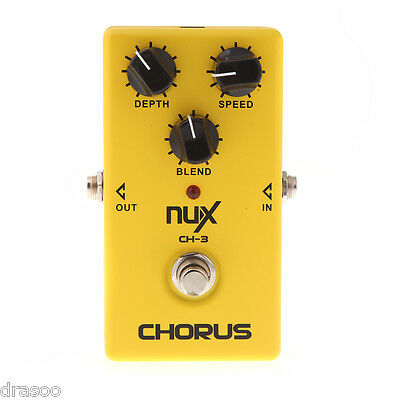 NUX CH-3 Guitar Electric Effect Pedal Chorus Low Noise BBD True Bypass UK Stock