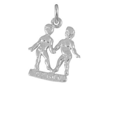 TheCharmWorks Sterling Silver Gemini Twins Charm