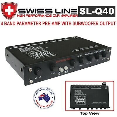 New Swiss Line SL-Q40 4 Band Parametric Equalizer PreAmplifier for Car Amplifier