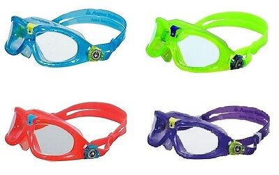 AQUA SPHERE SEAL KID 2 Learn to Swim Snorkel Vacation Goggles Mask Scuba Pool