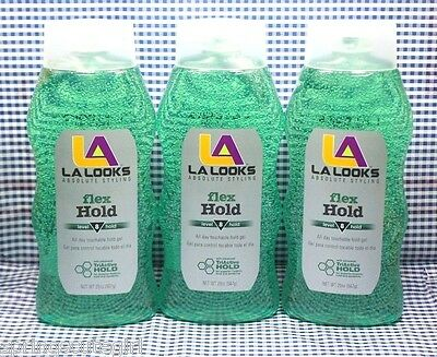 3 L.A. LOOKS Absolute Styling FLEX HOLD Level 8 Hold Hair Gel 20 oz each