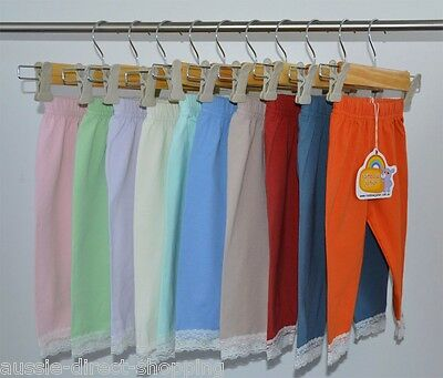 Baby Toddler High Quality Leggings, 100% Cotton, 10 Colours, 2 Sizes