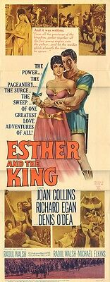 JOAN COLLINS  - RICHARD EGAN - Vintage American Door Poster ESTHER AND THE KING