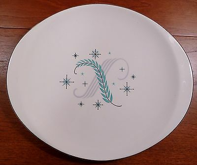"Mid-century modern vintage Canonsburg Citation 14"" oval serving platter"
